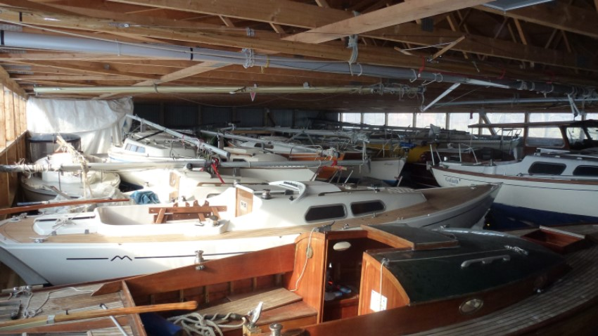All boats are waiting for repair or are in the process of being repaired